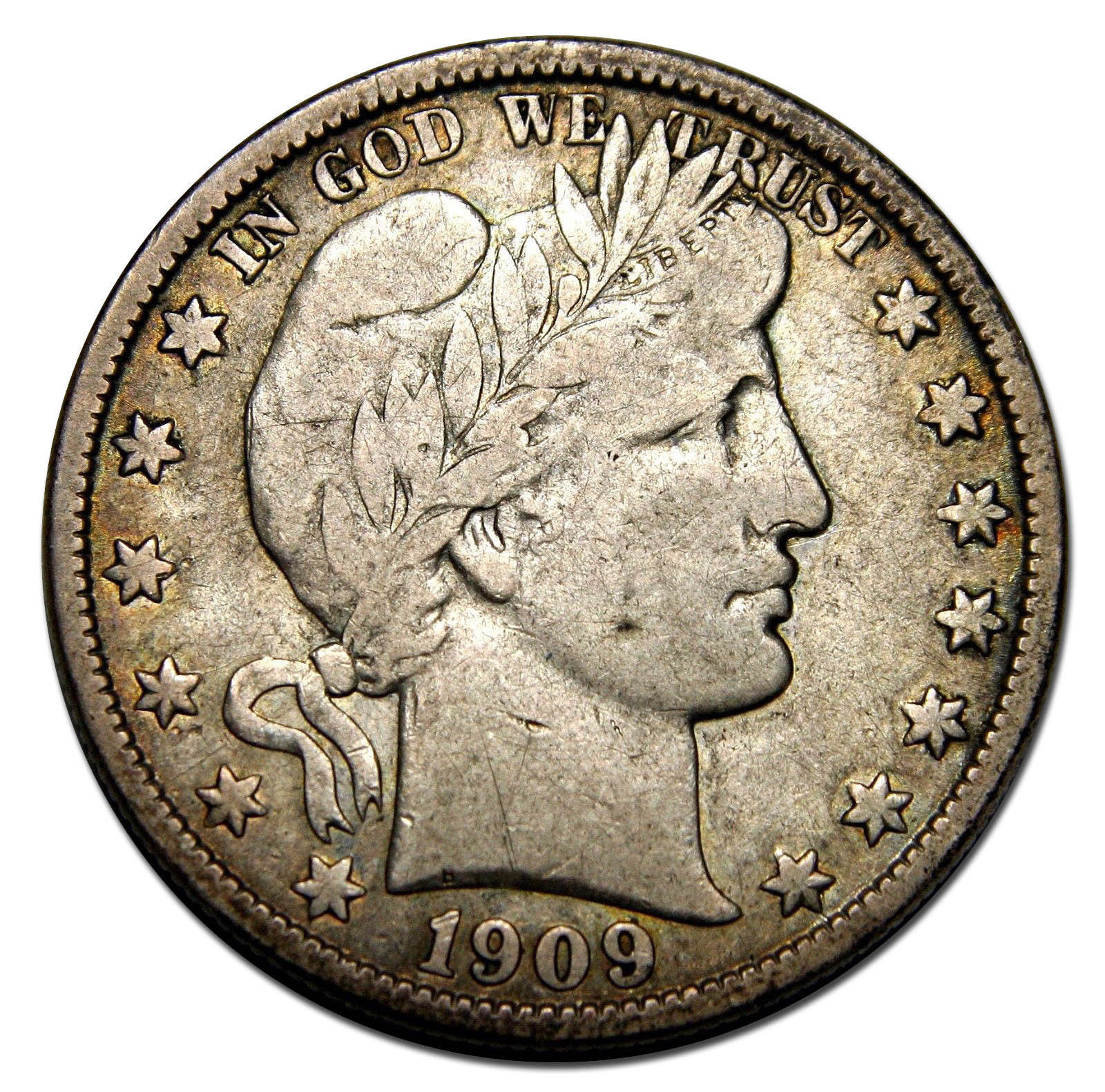 1909O Liberty Barber Head Half Dollar 50¢ Silver Coin Lot F 422