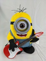 "Despicable Me Minions Animated Plush 10"" Musical Guitar Universal Studios - $14.95"