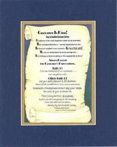 Customer Is King Sayings Sayings on 11 x 14 inches Double Beveled Matting (Blue  - $19.95