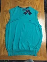 NWT CHAPS Ralph Lauren 100% Cotton Green Vest Mens Size XLT Business Casual - $55.94
