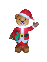 4 Foot Tall Christmas Inflatable Teddy Bear Blowup LED Yard Outdoor Deco... - $45.00