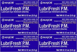 Lubrifresh PM Lubricant Eye Ointment Generic Refresh PM 3.5 g per Tube 6... - $59.91