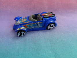 2008 McDonald's Hot Wheels Mattel Blue Roadster Car Wave Runner - a is -... - $1.93