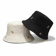 Pineapple Embroidery Bucket Hat for Unisex Double-sided Fisherman Visor ... - $9.99