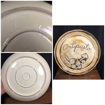 "12.5"" Serving Plate ""Antipasto"" Veggie Decorative Glazed Beige USA PA-20 - $19.99"