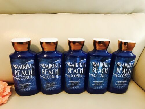 Primary image for 5 Bath & Body Works Waikiki Beach Coconut Body Lotion Full Size 8oz