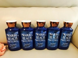 5 Bath & Body Works Waikiki Beach Coconut Body Lotion Full Size 8oz - $59.10