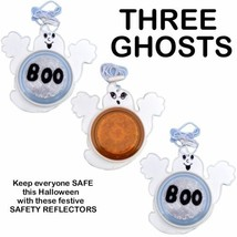 3 PIECES HALLOWEEN SAFETY REFLECTOR GHOST TRICK OR TREAT NECKLACE COSTUM... - $13.36