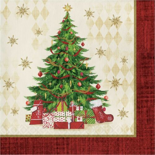 Tasteful Tree 16 Ct Luncheon Napkins Christmas Holiday