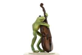 Hagen Renaker Frog Froggy Mountain Breakdown Double Bass Ceramic Figurine image 1
