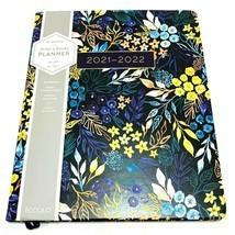 2021 to 2022 Planner Monthly Weekly Calendar Black Flowers 8x10 - $24.13