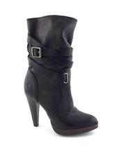 FRYE Size 6 HARLOW Multi Strap Black Leather Platform High Ankle Boots B... - $119.00