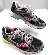 Saucony Guide 6 Running Shoes Black Purple Green Women's Size 11 US 43 EUR 9 UK - $39.55