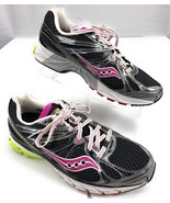 Saucony Guide 6 Running Shoes Black Purple Green Women's Size 11 US 43 E... - $32.60