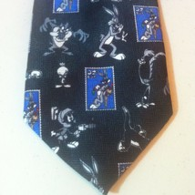 LOONEY TUNES Stamp Collection Rare Usps Necktie Marvin Martian Bugs Taz Runner - $10.62