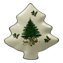 Mikasa Heritage Christmas Story Candy Tray Christmas Tree Shaped Dish - $15.93