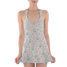 Almost Midnight Cinderella Inspired Halter Swim Dress Swimsuit - $44.99+