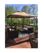 10' x 10' Backyard Gazebo Outdoor Patio Canopy Tent Dining Shace Shelter  - $3.365,92 MXN