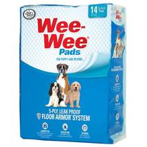 """Four Paws Wee-Wee Pads 14 pack White 22"""" x 23"""" x 0.1"""" - $6.29"""