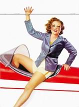 American Pinups: Film Fun - Redhead Girl in Jacket On Plane - Fisher - 1938 - $12.82+