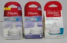 Playtex Baby Full Sized Shape Silicone Nipples, 3M+ Medium Flow, 2 Ct (3 Pack) - $10.99