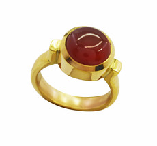 splendid Red Onyx Gold Plated Red Ring Natural jaipur US gift - $17.99