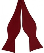Luther Pike Self Tie Bow Ties For Men Bowtie Tuxedo Bow Tie (Burgundy) - $21.36