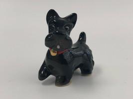 Porcelain Scottish Terrier Black Dog Figurine Hagen Renaker - $12.00