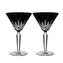 Waterford Lismore Black Martini Pair New # 40026284 Lismore Black Collec... - $189.34