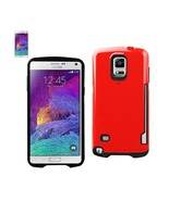 REIKO SAMSUNG GALAXY NOTE 4 CANDY SHIELD CASE WITH CARD HOLDER IN RED TP... - $10.55
