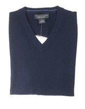 NEW $198 BLOOMINGDALES NAVY BLUE 2 PLY 100% CASHMERE V-NECK SWEATER SIZE S - $27.72