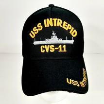 U.S. Navy Uss Intrepid CVS - 11 Men's Hat Cap Black Embroidered Acrylic - $12.37