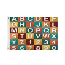 Outside Decorative Flags Alphabet Number Dog Cat Paw Set Illustration Flag Table - $24.99
