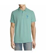 U.S. POLO ASSN. Men's Big Pony Short Sleeve Pique Polo Shirt SMALL Jade ... - $36.62
