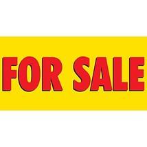 HALF PRICE BANNERS | for Sale Vinyl Banner -Indoor/Outdoor 2X4 Foot -Yellow | In