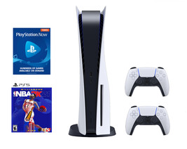 Newest Sony PS5 PlayStation 5 Console DISC NBA 2K21 Bundle - Ready To Ship image 1