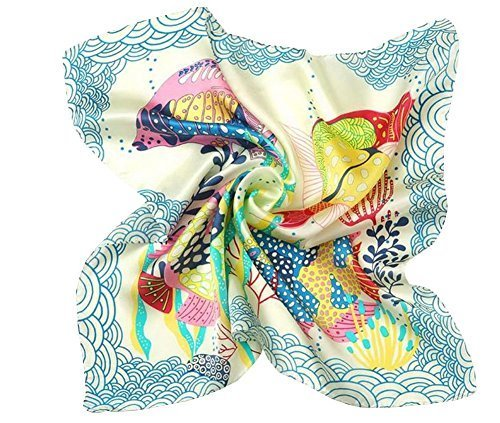Pretty Baby Scarf Soft Silk Fish Baby Scarf Multicolor 20.420.4''
