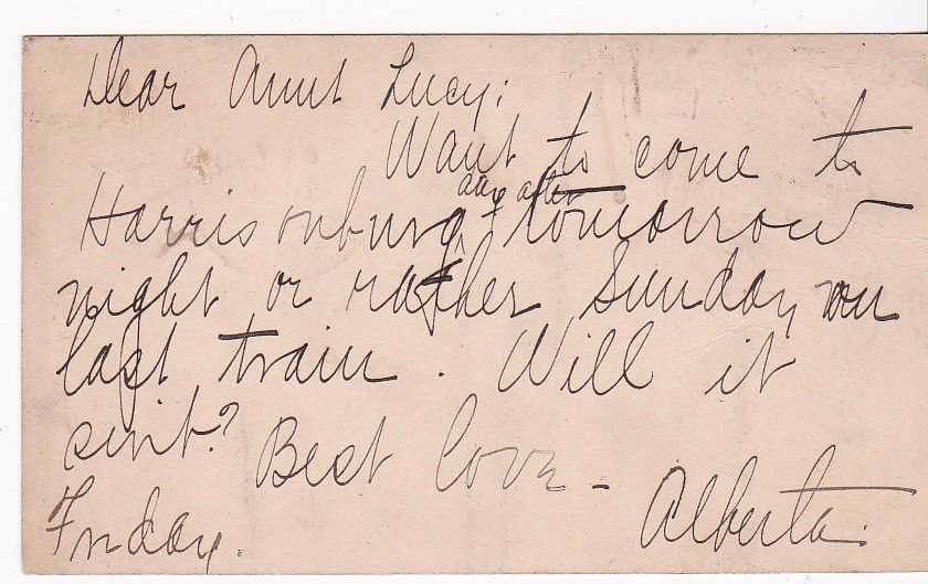 MOUNT JACKSON, VA OCTOBER 3 1913 ON RED 1c McKINLEY POSTAL CARD