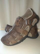 TEVA Mens Sandals Size 9 Brown Leather Fisherman - $29.37