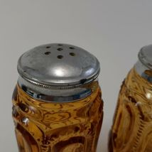 L.E. Smith Moon And Stars Amberina Salt And Pepper Shakers  image 7