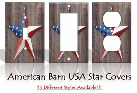 American Barn USA Star Flag Light Switch Covers Rustic Sunset Home Decor... - $6.92+