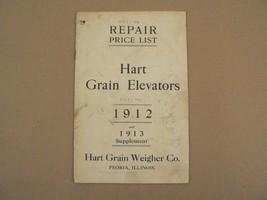 Hart Grain Weigher Company Peoria Illinois Repair Price List Elevators 1913 - $150.00