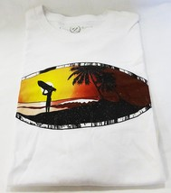 Club Room men XXL NWT white surfer crew neck graphic tee casual T-shirt - $20.79