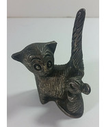 Ampersand Pewter USA Cat Mouse Figurine 3in Vintage Paper Weight Kitten ... - $19.99