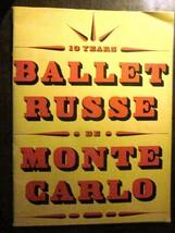 BALLET RUSSE DE MONTE CARLO Souvenir Program 1948-49 (Good) Alexandra Da... - $24.49