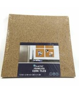 Quartet Pack of 4 Frameless Natural Cork Tiles Boards 12x12 inches New - $21.45