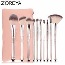 Zoreya® 10pcs/Set Soft Synthetic Hair Tiara Shaped Makeup Brushes Founda... - €23,68 EUR