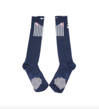 New Nike XL NBA Authentics Team Issued Detroit Pistons Over Calf Socks Navy - $24.70