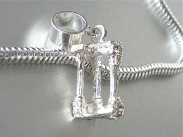 Roman Forum Rome Italy 3D Sterling Silver Travel Charm Fits All European Slide O - $24.95