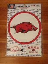 NIP Large NCAA Arkansas Razorback Indoor / Outdoor Football Basketball 3  magnet - $10.99